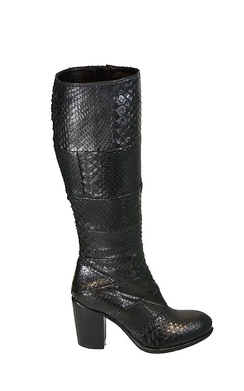 Rocco P - Pitone Black Boots-0