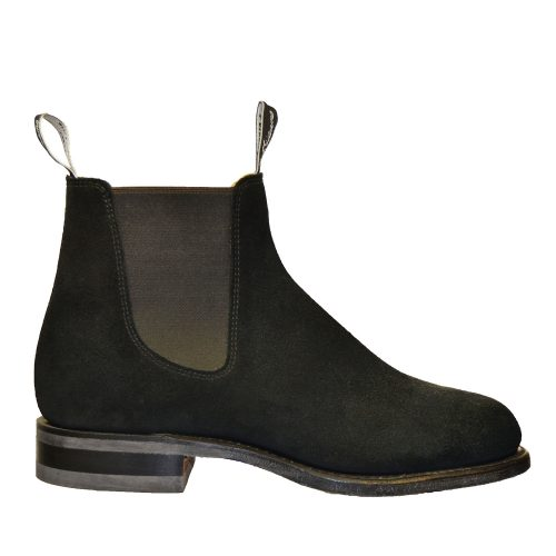 R.M. Williams - Suede Black-0