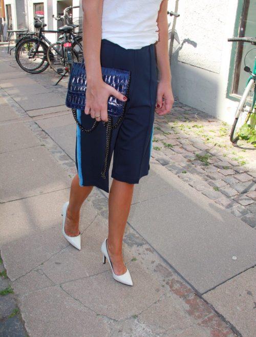 Anne Vest - Fur stripe shorts -0