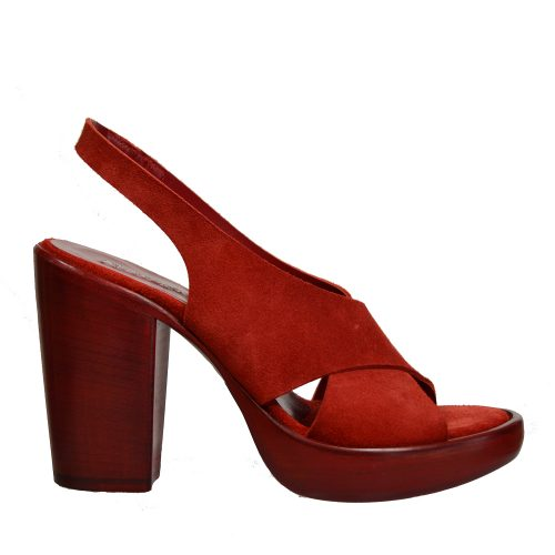 Rocco P - Red Suede Sandal-0