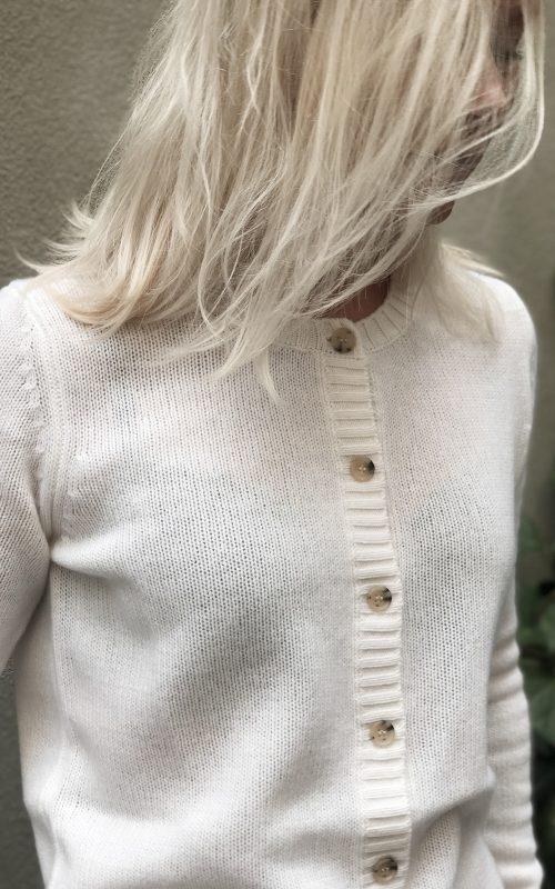Allude - White Cardigan-0